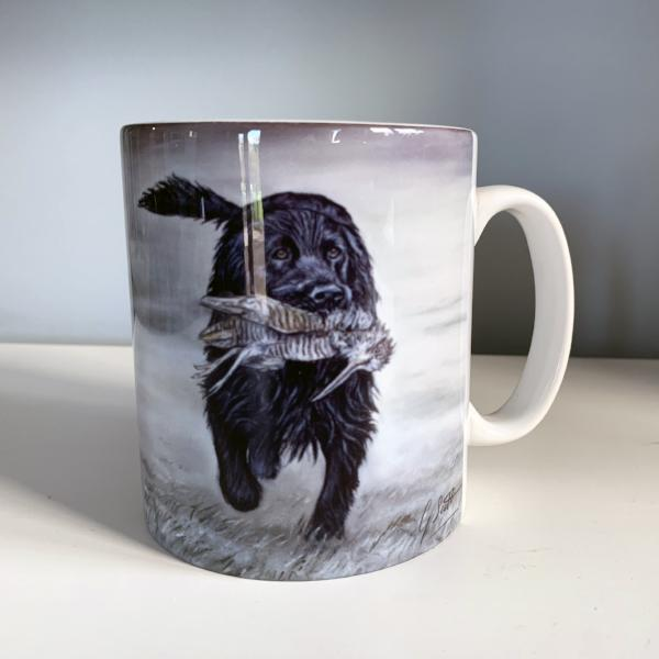 Black Spaniel With Woodcock Hunting Themed Mug