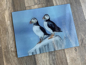Puffin Birds Glass Worktop Saver