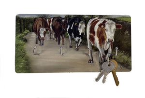 Herd Of Cattle Farming Themed Key Holder