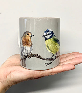 Row Of Garden Birds Mug