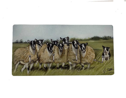 Sheep and Collie Key Holder
