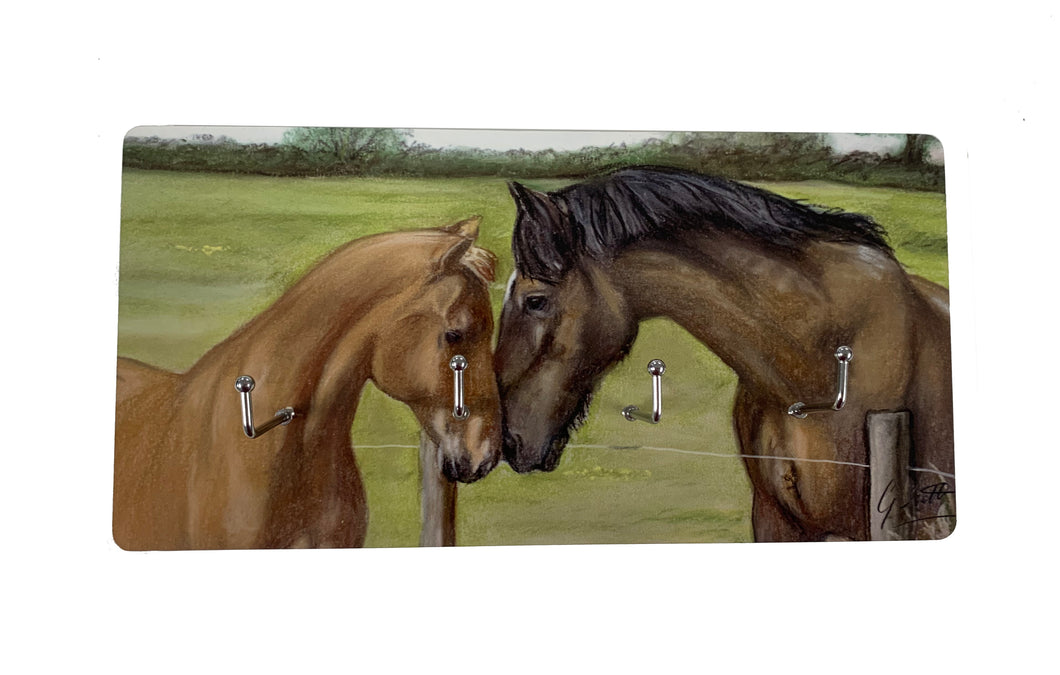 Horse and Foal Key Holder