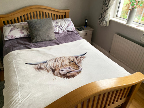 Highland Cow Super Soft Blanket