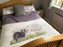 Collie Herding Sheep Super Soft Blanket
