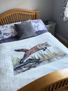 Leaping Fox Super Soft Blanket
