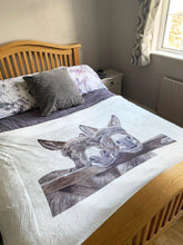 Donkeys Over Gate Super Soft Blanket