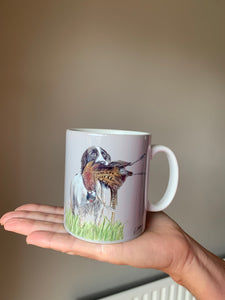 Spaniel With Pheasant Fathers Day Mug
