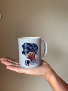 Black Labrador Hunting Themed Father's Day Mug