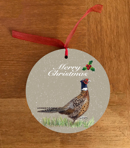 Single Pheasant Hanging Decoration