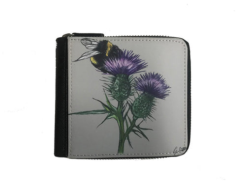 Bee On Thistle Small Luxury Purse