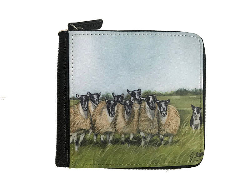 Sheep And Collie Small Luxury Purse