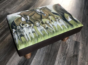 Horses And Hounds Footstool