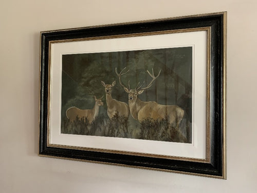 scottish deer stags original pastel painting by grace scott