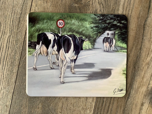 SECOND Herd Of Cows Walking Road Placemat
