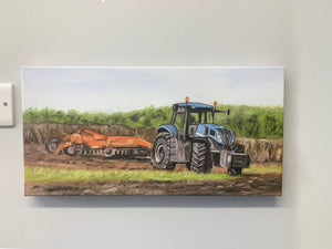 Tractor Rotovating Canvas Print