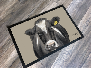 Cow With Tag Farming Themed Mat