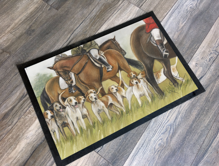 Hunting Scene Countrysports Themed Mat grace scott