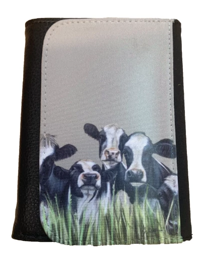 Friesian Cows Through Grass Farming Themed Wallet