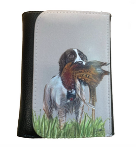 Brown Spaniel With Pheasant Countrysports Themed Wallet