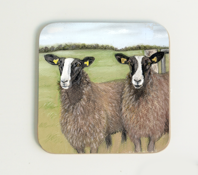 Zwartble Sheep Coaster