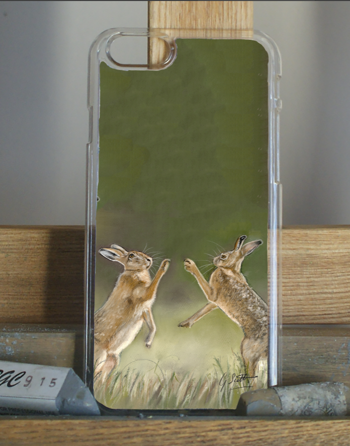 Boxing Hares Phone Case - 2
