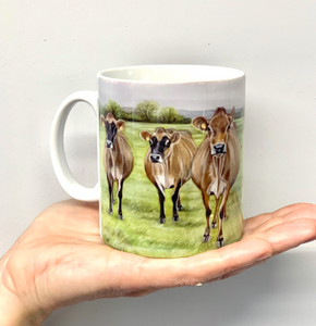 Jerseys Farming Themed Mug