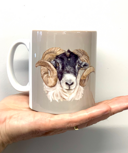 Sheep's Head Farming Themed Mug