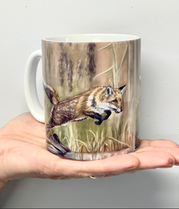 Fox Leaping Mug