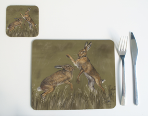 Boxing Hares Placemat -2