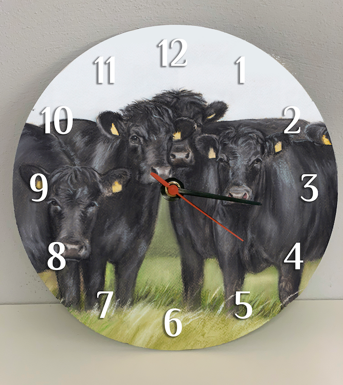 Aberdeen Angus Farming Themed Clock