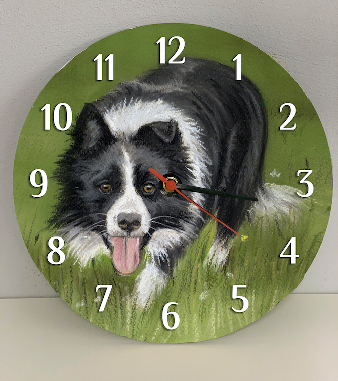 Working Collie Farming Themed Clock