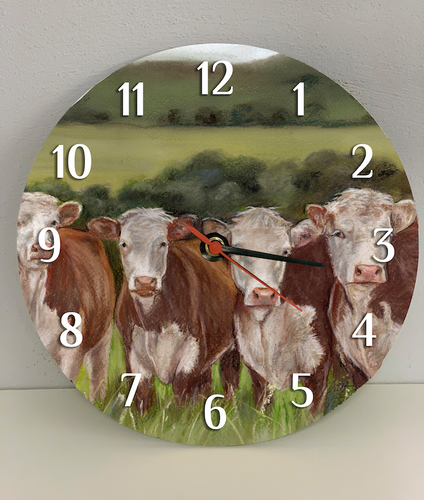 Herefords Farming Themed Clock
