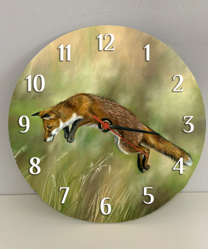 Leaping Fox Clock
