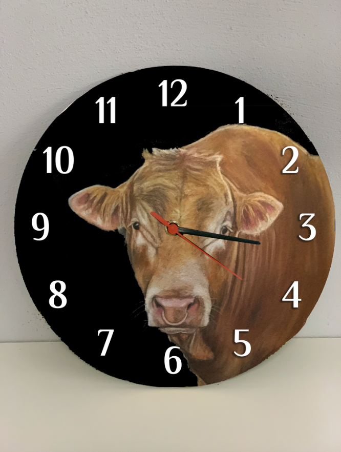 Limousin Farming Themed Clock