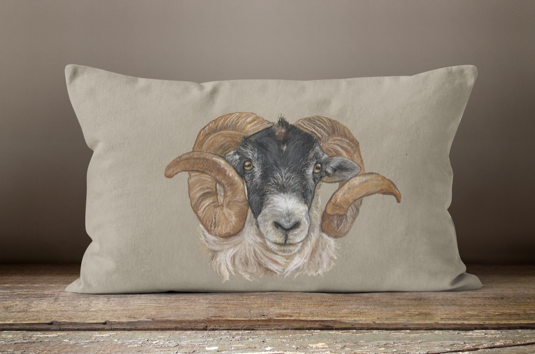 Sheep's Head Oblong Cushion