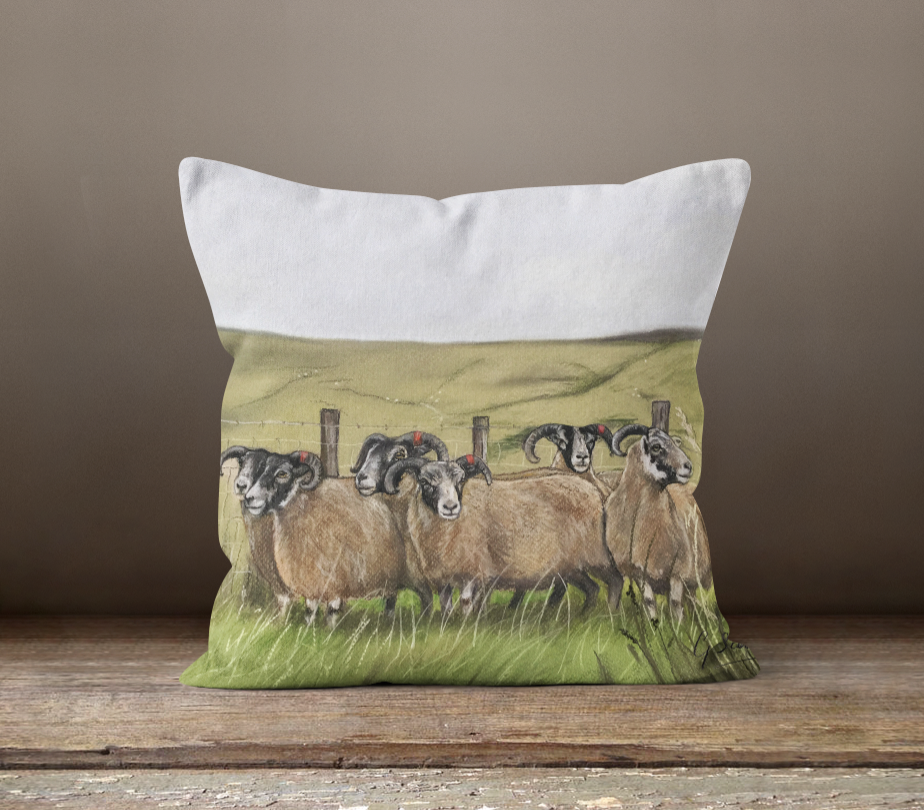 Flock Of Sheep Square Cushion