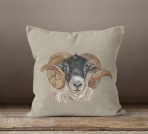 Sheep Head Square Cushion