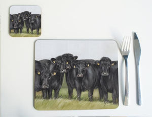 Aberdeen Angus Cattle Placemat