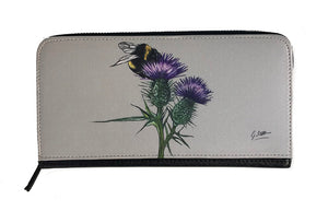 Bee On Thistle Zipped Purse