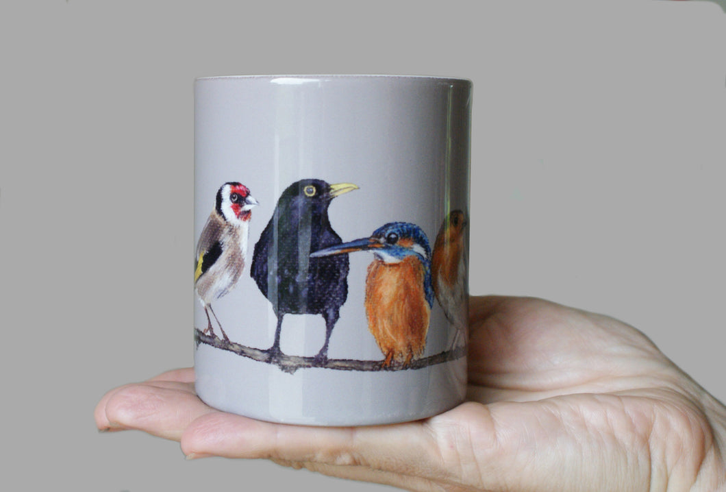 Birds in Row Mug