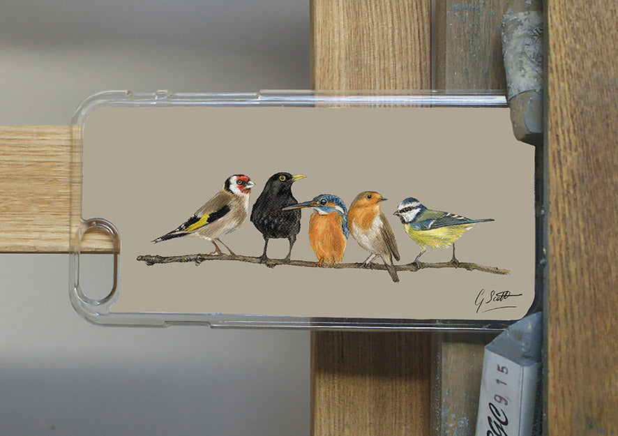 Row Of Garden Birds Phone Case