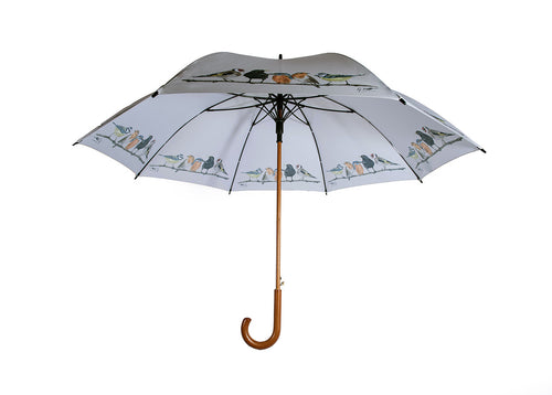 Row Of Garden Birds Umbrella