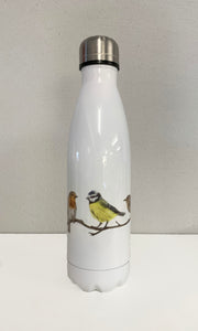 Trio Of Garden Birds Water Bottle Flask
