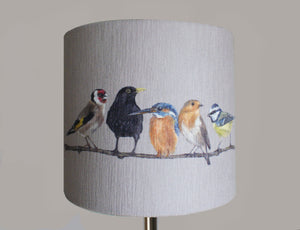 Birds in Row Lampshade