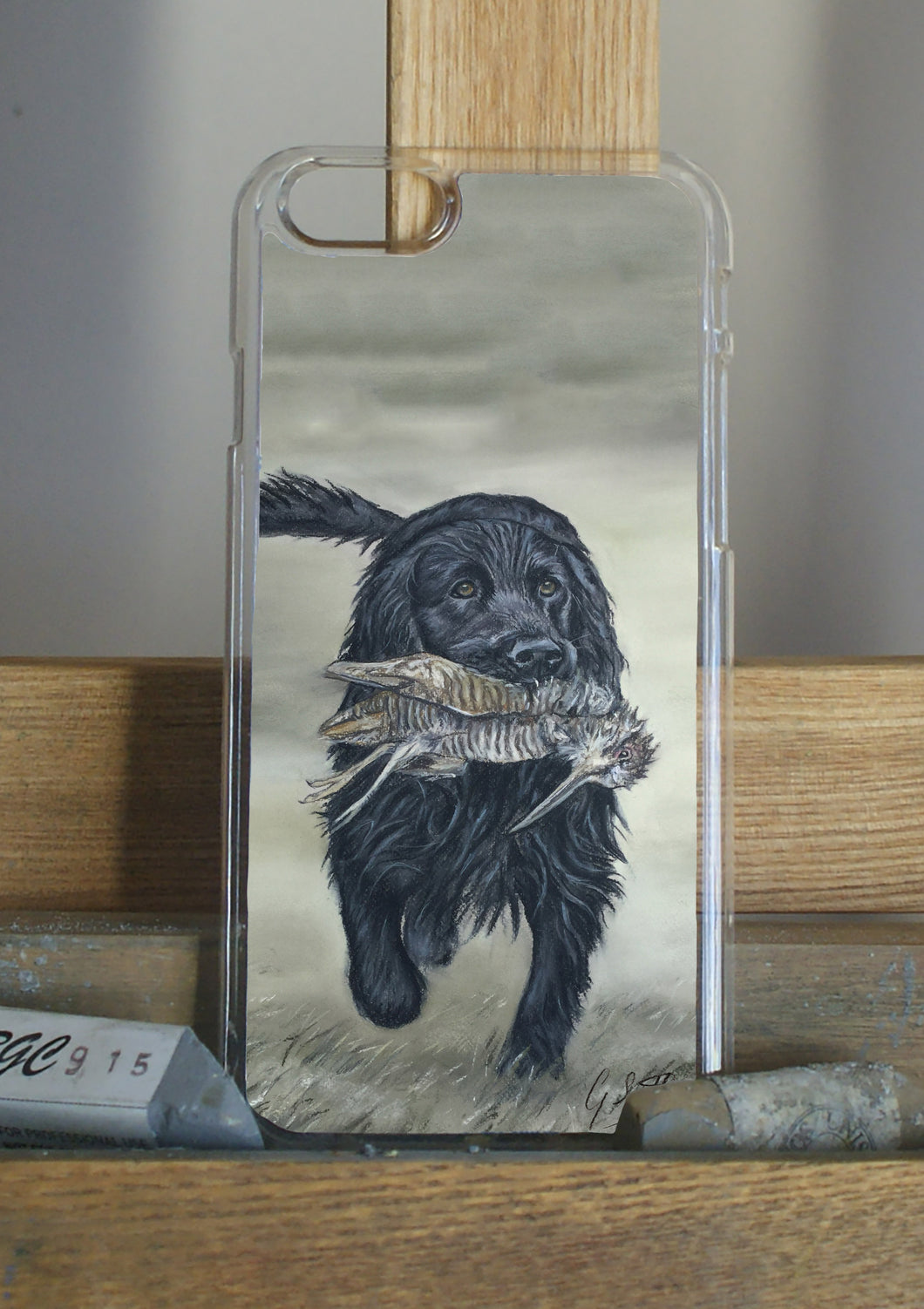Black cocker spaniel phone case by grace scott