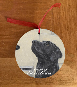 Black Labrador Christmas Hanging Decoration