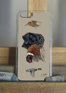 Black Labrador Hunting Themed With Pheasant And Mallard Phone Case