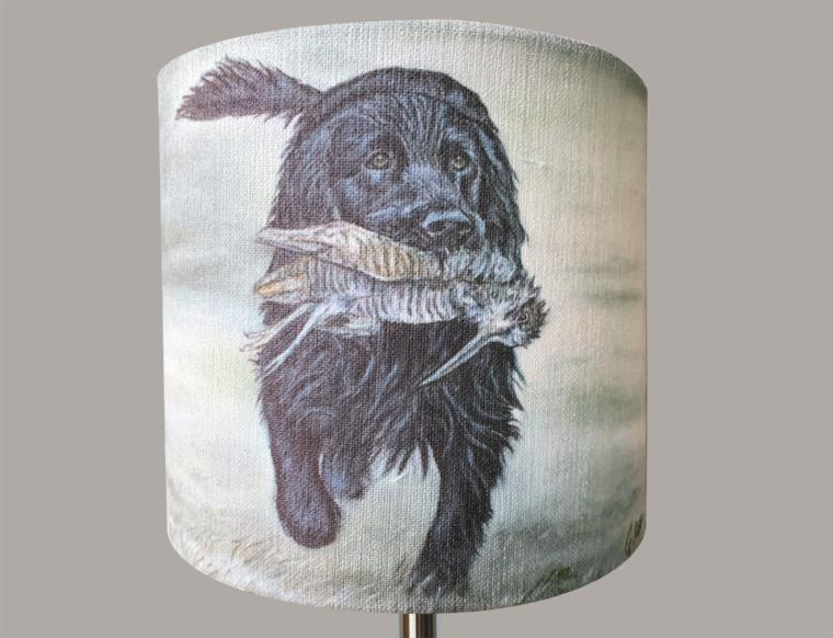 Black Cocker Spaniel Lampshade