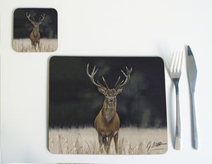 Stag Placemat with black background