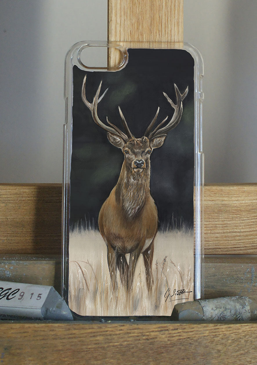 Stag With Dark Background Phone Case